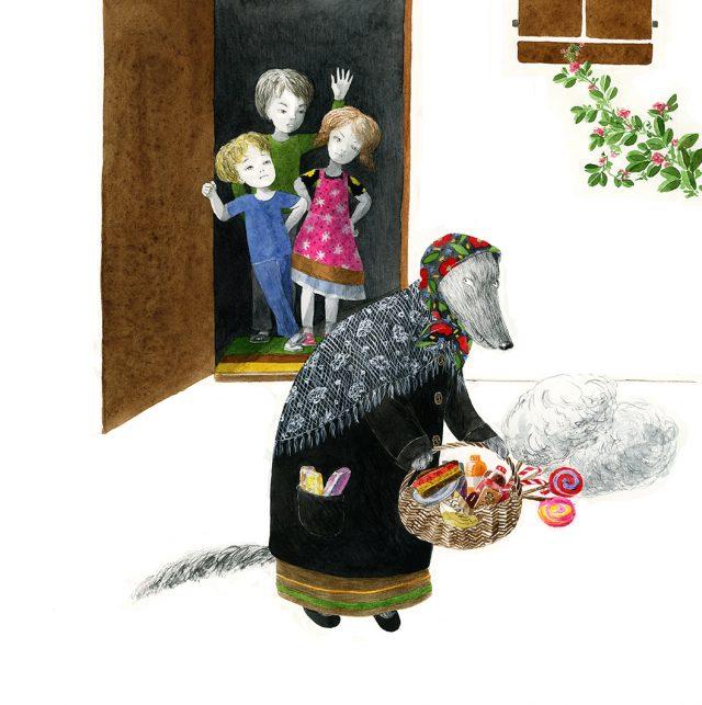 """Există lupi îmbrăcați în bunicuțe, să știe toți copiii cuminți: umblă liberi și îi păcălesc până și pe părinți. Situația e dură, iaca, am prins lupul cu blana cea mai sură: zahărul ascuns sub denumiri """"deștepte"""". Eu l-am descris în carte, Cristiana i-a facut portretul robot și trei copii isteți l-au prins cu acadeaua-n bot!"""
