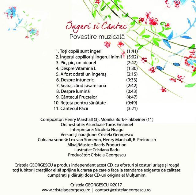 Continut Ingeri si Cantec de Cristela GEORGESCU